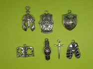 The Armor of God Collection - 7 antique silver tone charms