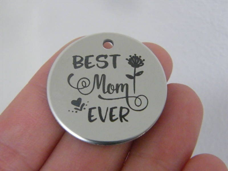 1 Best mom ever stainless steel pendant JS1-18