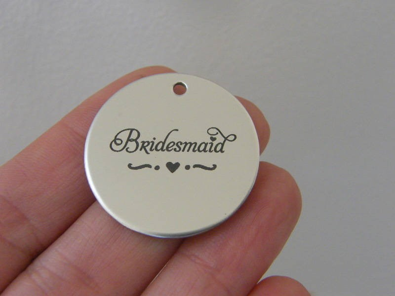 1 Bridesmaid stainless steel pendant JS1-21