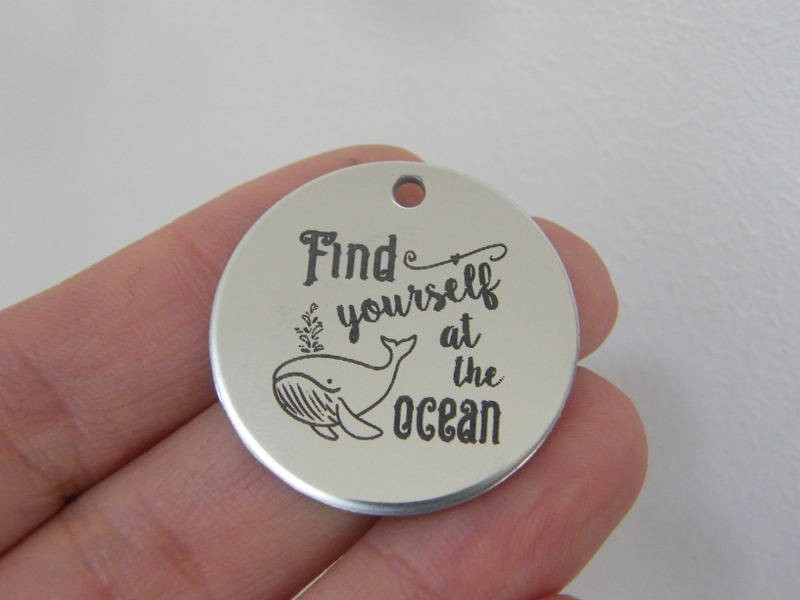 1 Find yourself at the ocean stainless steel pendant JS1-34