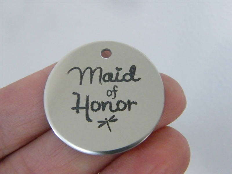 1 Maid of honor stainless steel pendant JS1-41