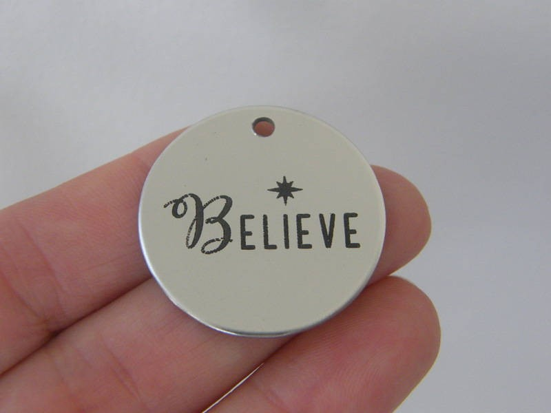 1 Believe stainless steel pendant JS2-4