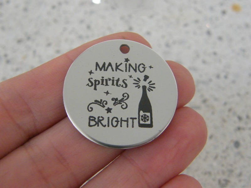 1 Making spirits bright stainless steel pendant JS1-12