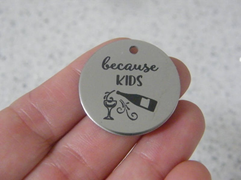 1 because kids stainless steel pendant JS2-15