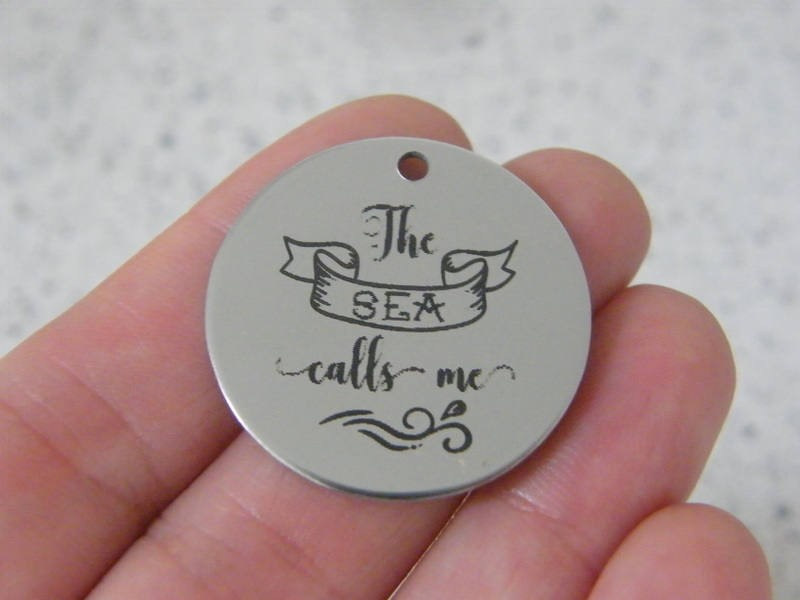 1  The sea call me stainless steel pendant JS2-47