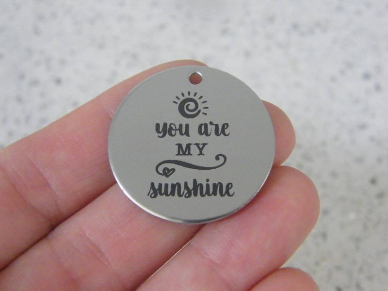 1  You are my sunshine stainless steel pendant JS3-19