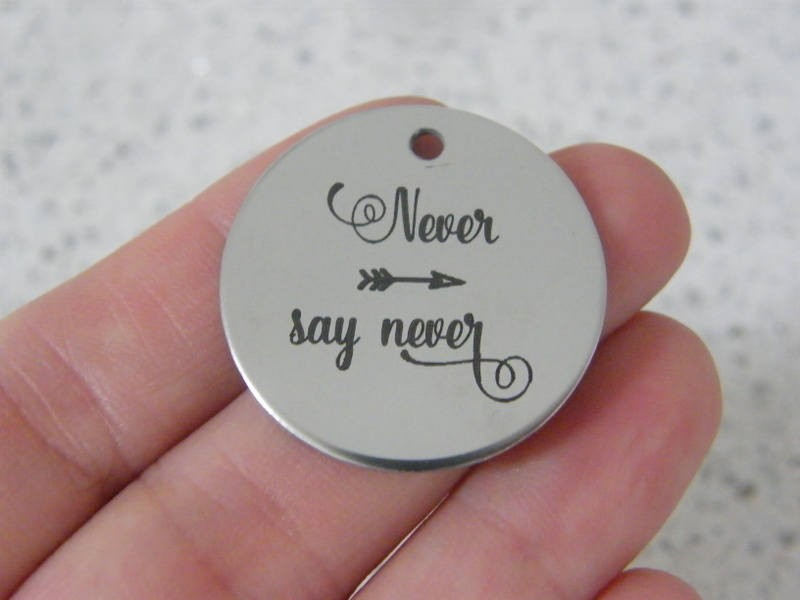 1  Never say never stainless steel pendant JS2-38