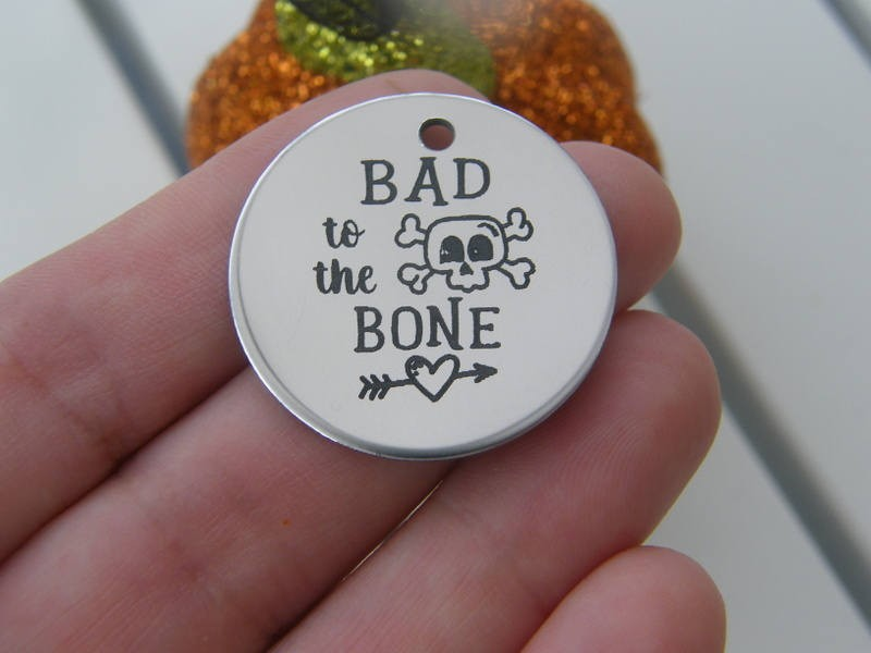 1 Bad to the bone stainless steel pendant JS1-8