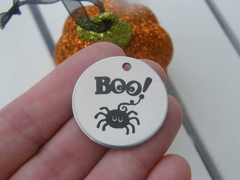 1 Boo ! stainless steel pendant JS1-9