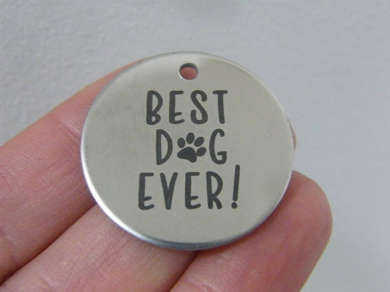 1 Best dog ever stainless steel pendant JS1-16