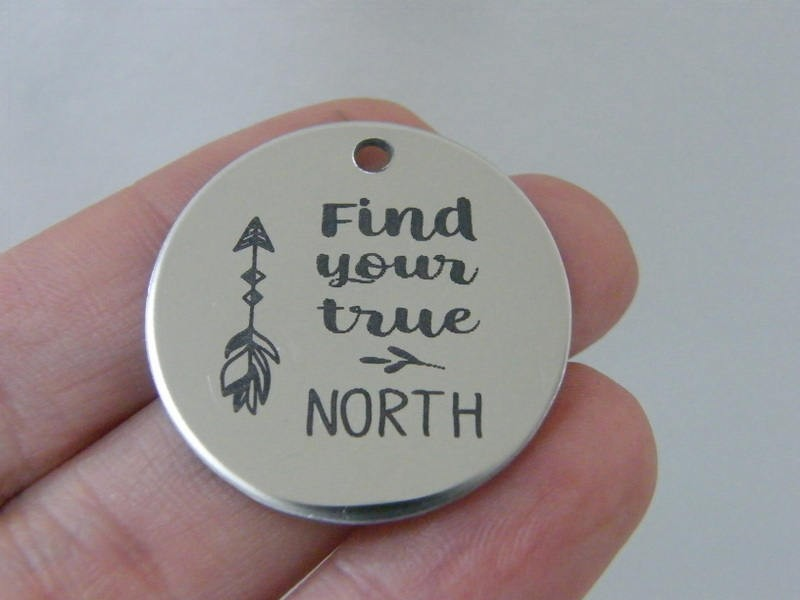 1 Find your true north stainless steel pendant JS1-25