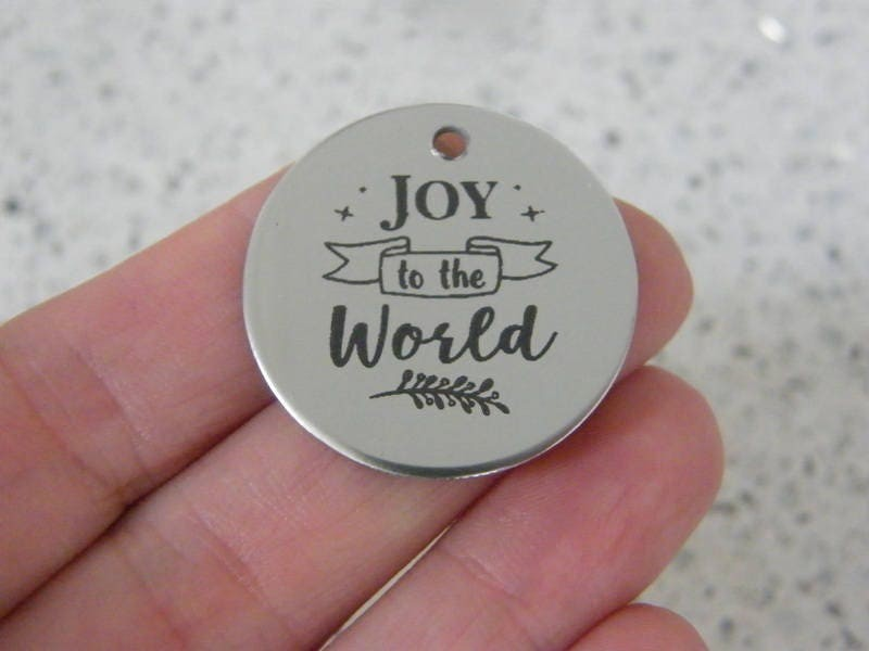 1 Joy to the world stainless steel pendant JS1-38
