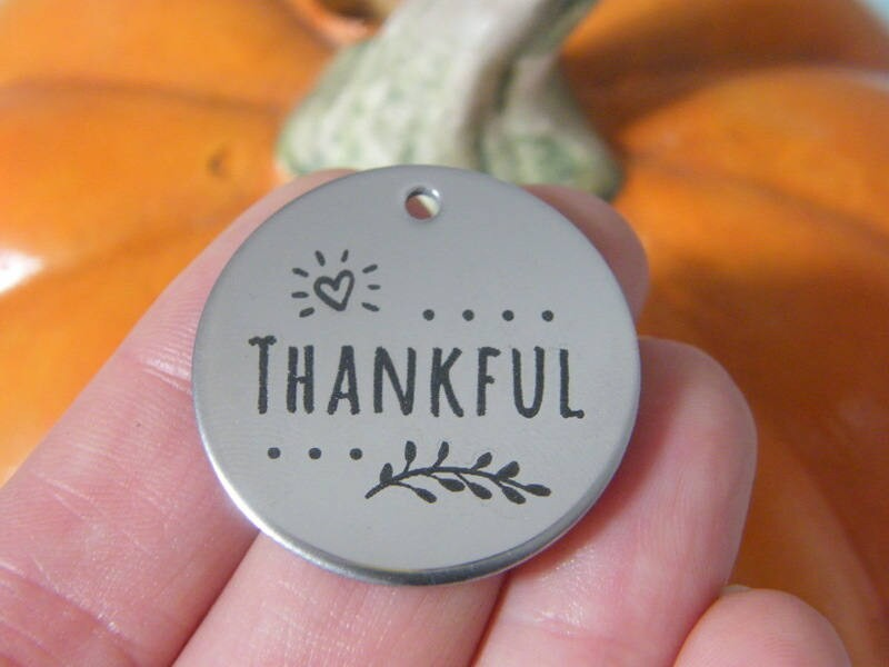 1 Thankful stainless steel pendant JS1-27