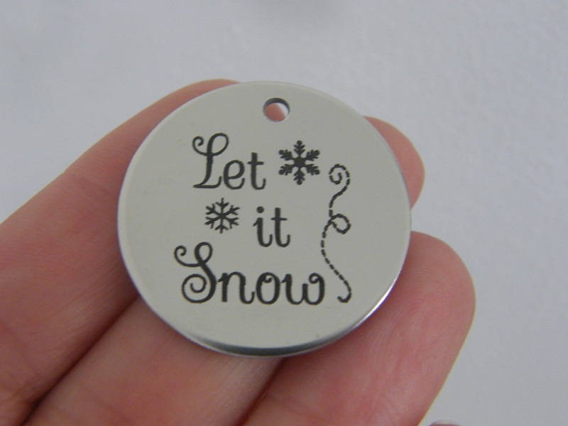 1 Let it snow stainless steel pendant JS1-32