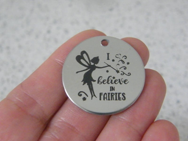 1  I believe in fairies stainless steel pendant JS2-28
