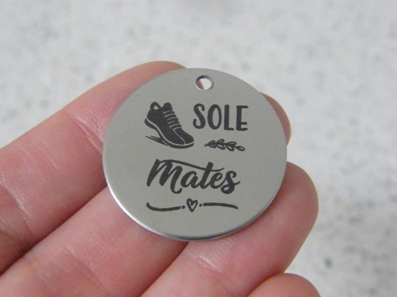 1 Sole mates stainless steel pendant JS2-24