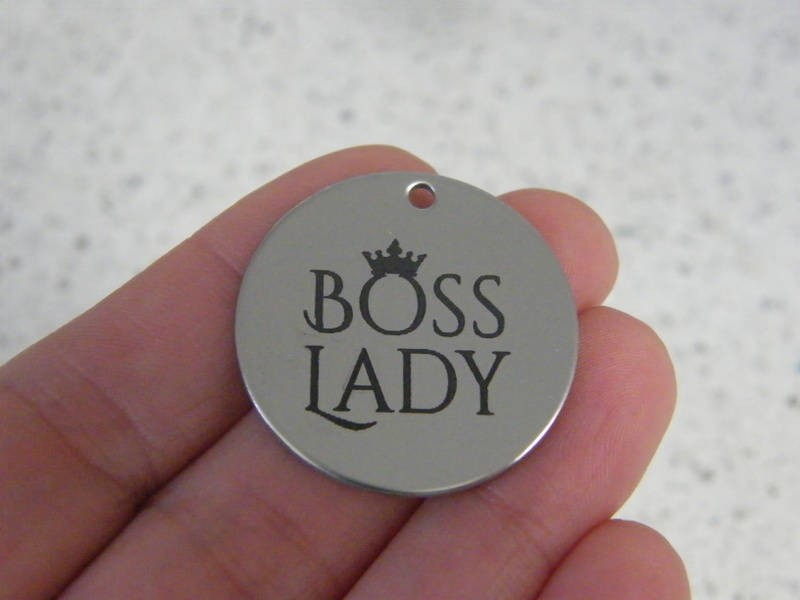 1 Boss lady stainless steel pendant JS4-6
