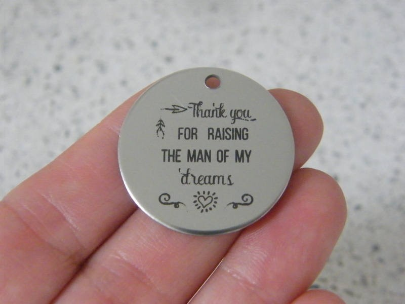 1  Thank you for raising the man of my dreams stainless steel pendant JS3-15