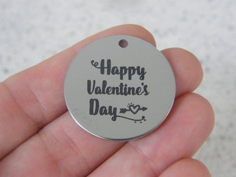 1  Happy Valentine's Day stainless steel pendant JS3-18