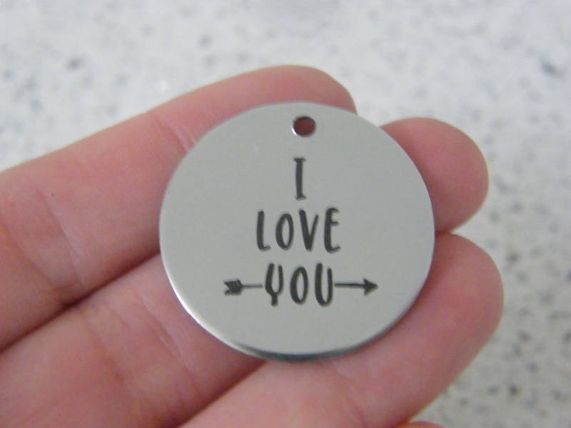 1 I love you stainless steel pendant JS4-38
