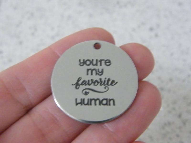 1 you're my favorite human stainless steel pendant JS5-2