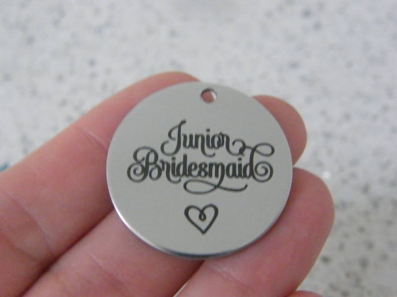 1 Junior bridesmaid stainless steel pendant JS5-7