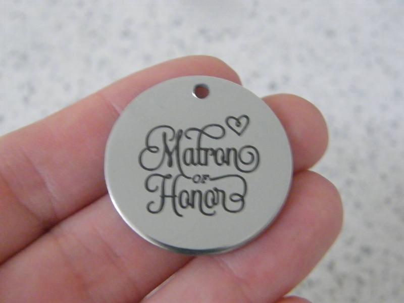 1 Matron of honor stainless steel pendant JS5-9