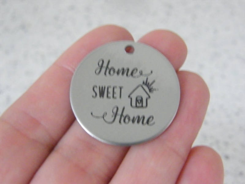 1 Home sweet home stainless steel pendant JS4-46