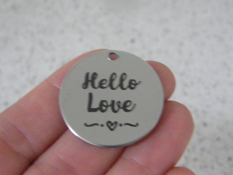 1 Hello love stainless steel pendant JS5-25