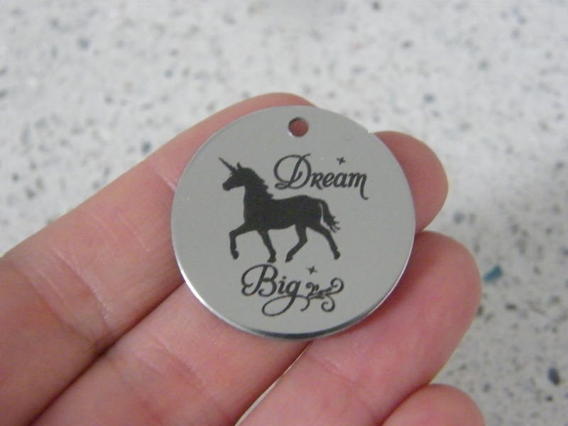 1 Dream big stainless steel pendant JS4-17