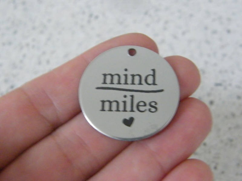 1 Mind over miles stainless steel pendant JS5-46