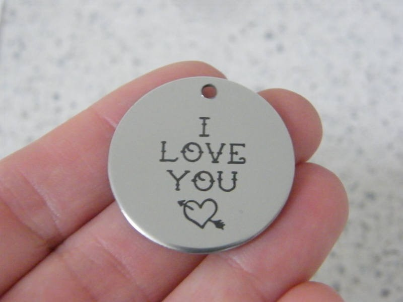 1 I love you stainless steel pendant JS4-36