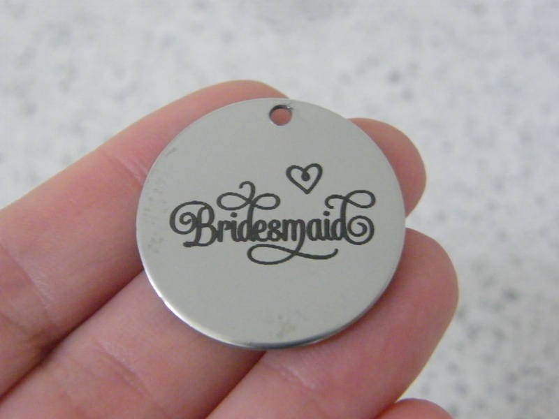 1 Bridesmaid stainless steel pendant JS5-5