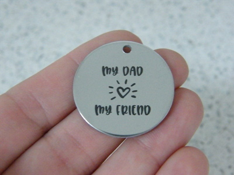 1 My Dad My Friend stainless steel pendant JS6-40