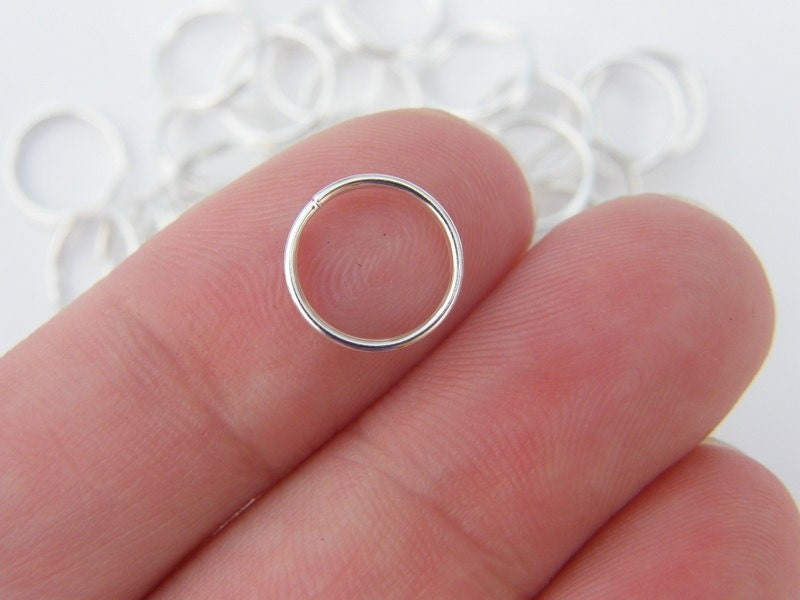 BULK 300 Split rings 10mm silver plated