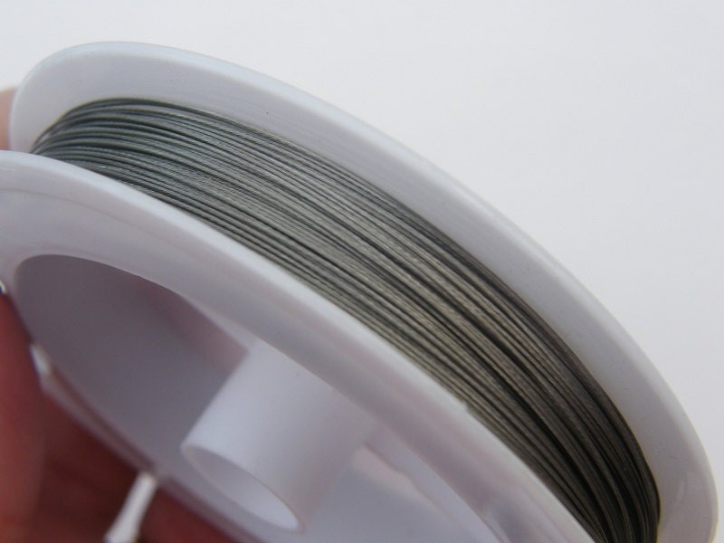 1 Roll tiger tail beading wire 70 meter silver/grey 0.45mm
