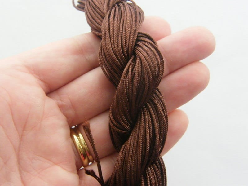 25 Meter brown nylon string