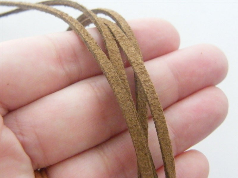 5 Brown leather suede necklaces 500 x 3mm