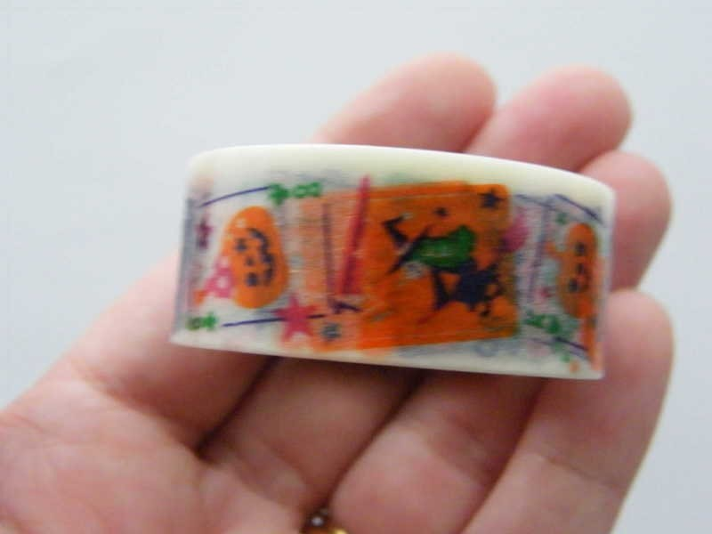 1 Roll Halloween washi decorating tape 20mm  4 Meter ST1