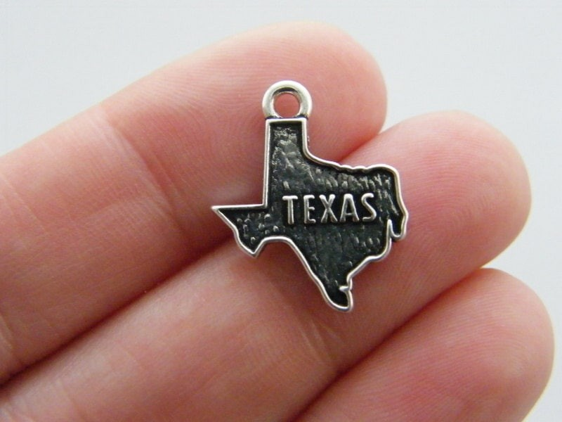 4 Texas charms antique silver tone WT141