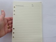 40 Sheets beige ruled date refillable binder paper 6 holes 20.5cm x 14.2cm Size A5
