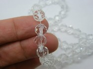 70 Clear beads faceted 8mm imitation crystal glass B225
