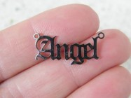 1 Angel word connector charm stainless steel AW45