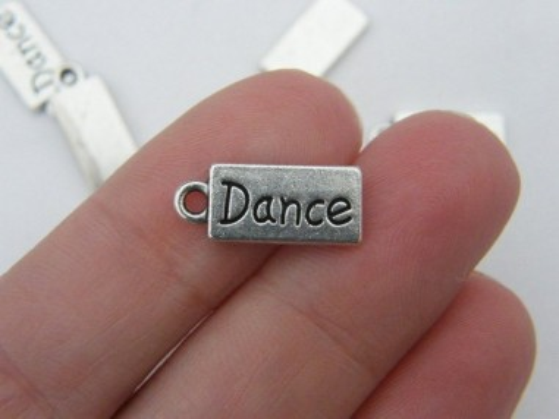 10 Dance charms antique silver tone FB42