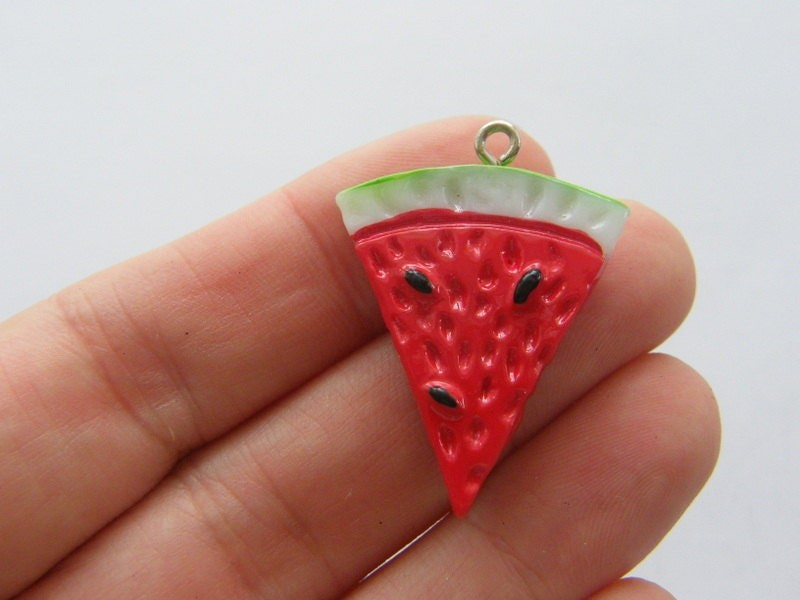4 Watermelon charms acrylic FD278