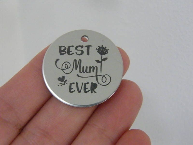 1 Best mum ever stainless steel pendant JS1-19