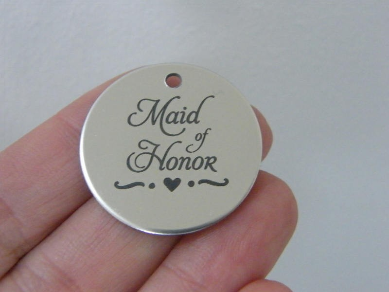 1 Maid of honor stainless steel pendant JS1-42