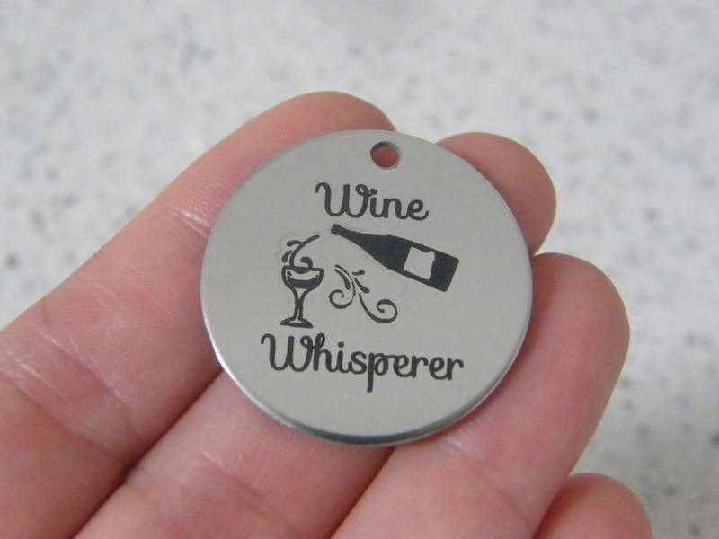 1 Wine whisperer stainless steel pendant JS2-18