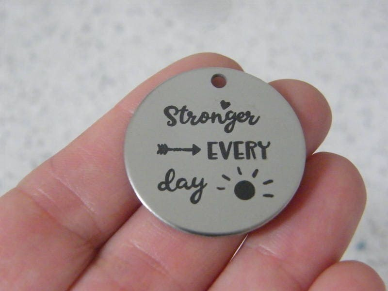 1 Stronger every day stainless steel pendant JS2-11