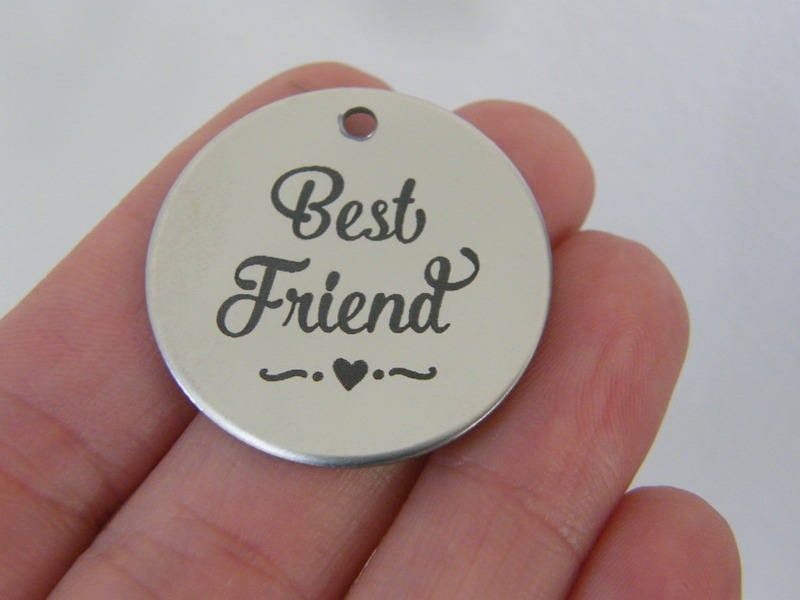 1 Best friend stainless steel pendant JS1-17